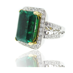 This Item is special order only and it will takes 6-8 weeks for delivery.  -The Ring is 18k White Gold with diamond & Russian emerald.  -The...
