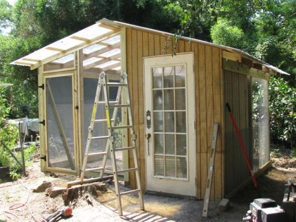 chicken coop and greenhouse construction - Chicken Co Op Plans And Greenhouse