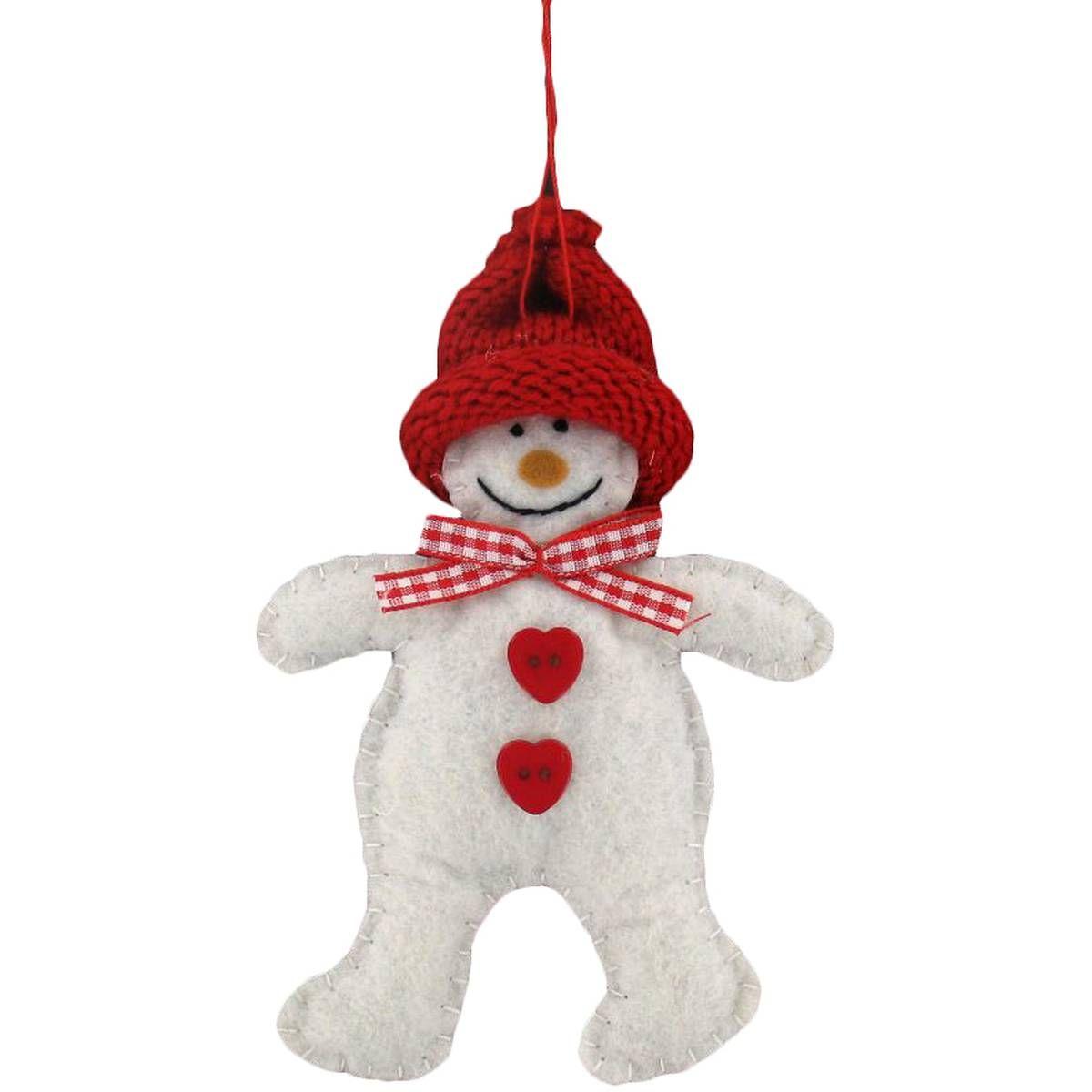 Christmas Snowman Hanging Decoration 13 cm Christmas