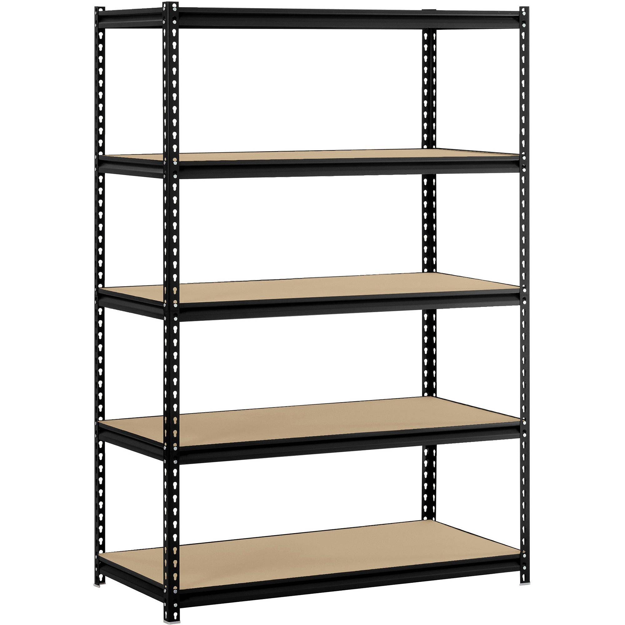 Muscle Rack 48 W X 24 D X 72 H 5 Shelf Steel Shelving Black