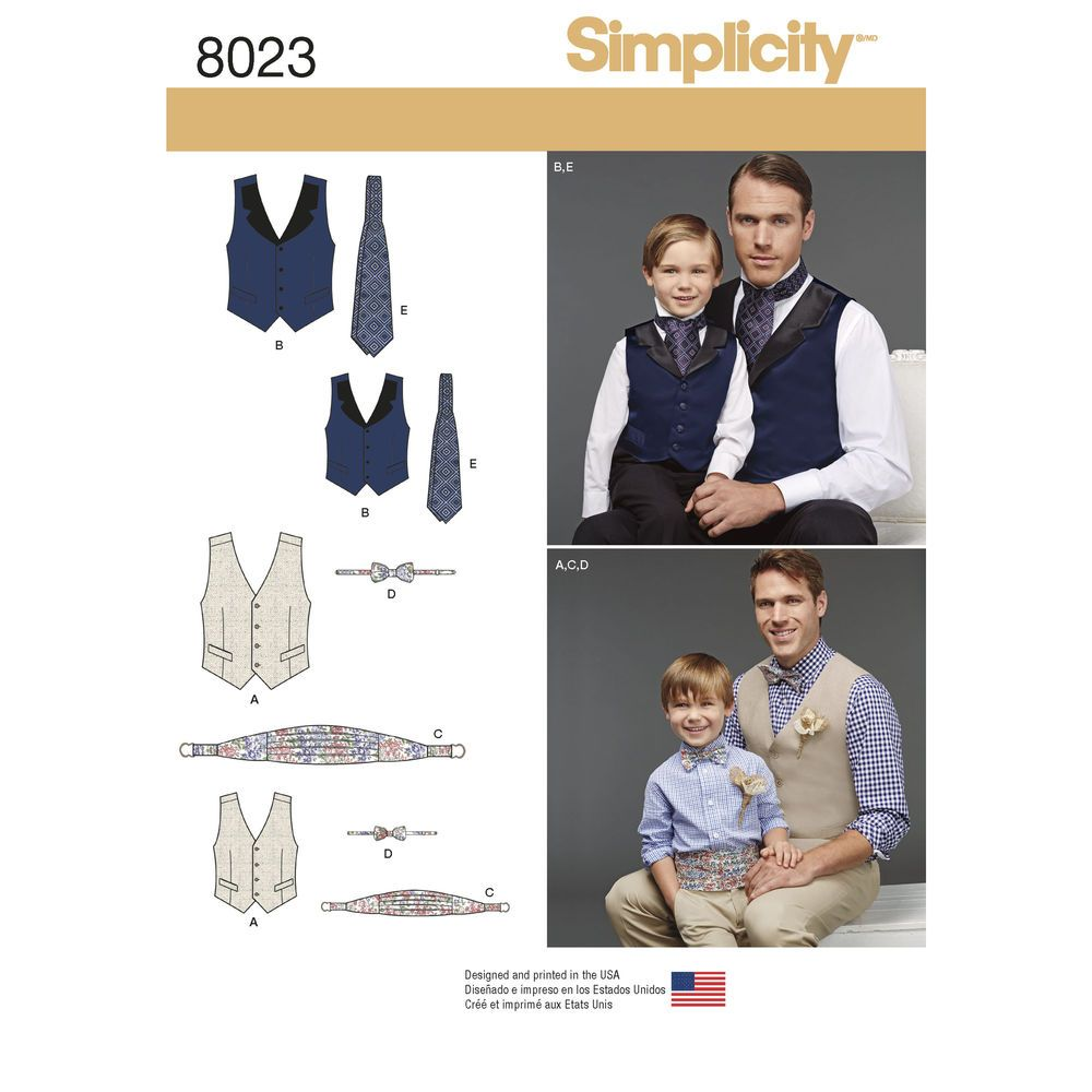 Boy\'s and men\'s special occasion accessories include lined vest with ...