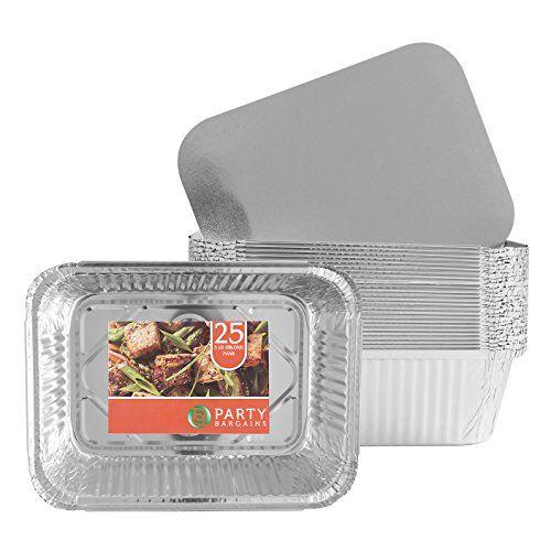 Party Bargains Premium Quality Durable 9 X 7 Aluminum Foil Pans 5