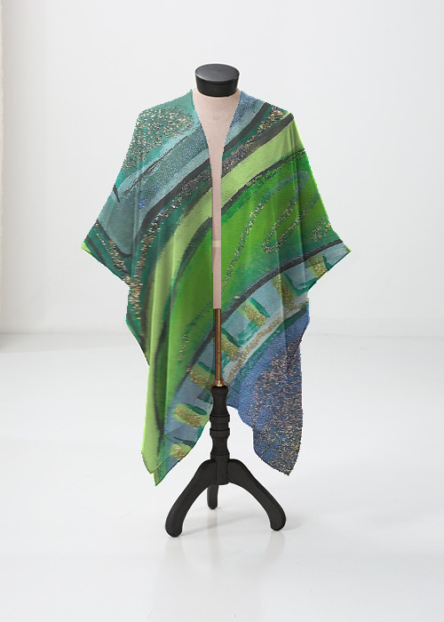 Sheer Wrap - Green Butterfly Sheer by VIDA VIDA EPYAv