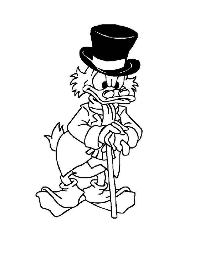 Scrooge Mcduck Coloring Pages 11 Disney Coloring Pages Scrooge Mcduck Scrooge