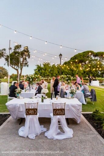 Outdoor Wedding Reception Adelaide South Australia Mr Mrs Chair Signs Chivari