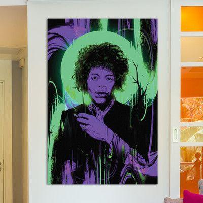 Mercury Row Purple Haze Graphic Art on Wrapped Canvas Size: