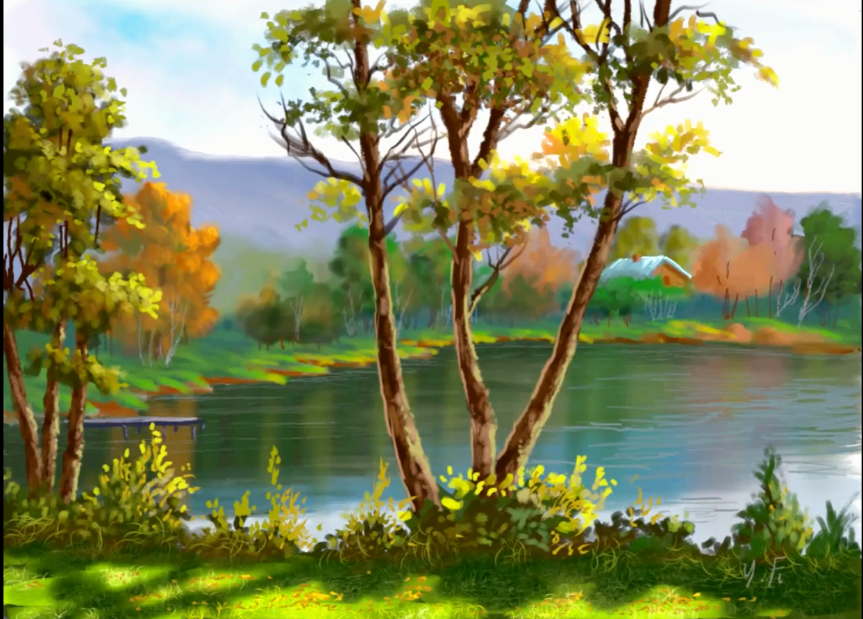 Digital Painting Landscape Step By Step Using Infinite Painter By Yasser Fayad Digital Painting Landscape Paintings Landscape Steps