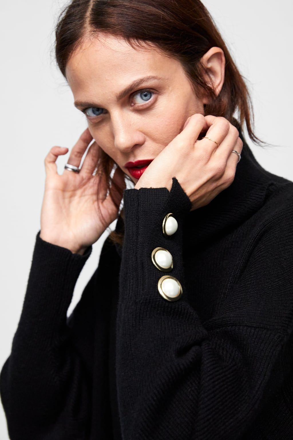 più amato 20680 34298 Immagine 6 di PULLOVER CON PERLE SUL POLSINO di Zara ...