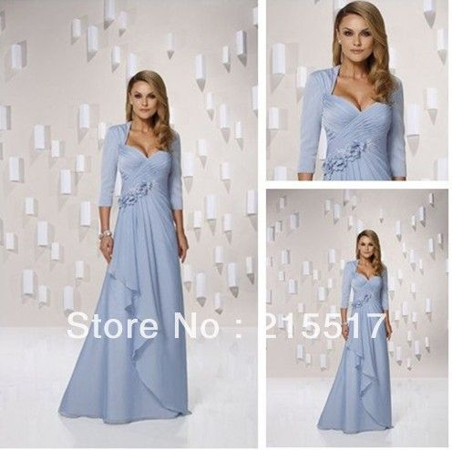 Dark Purple Ruffled Sleeves Tea Length Mother Of The Bride Dresses Plus Size With Sashes $133.00