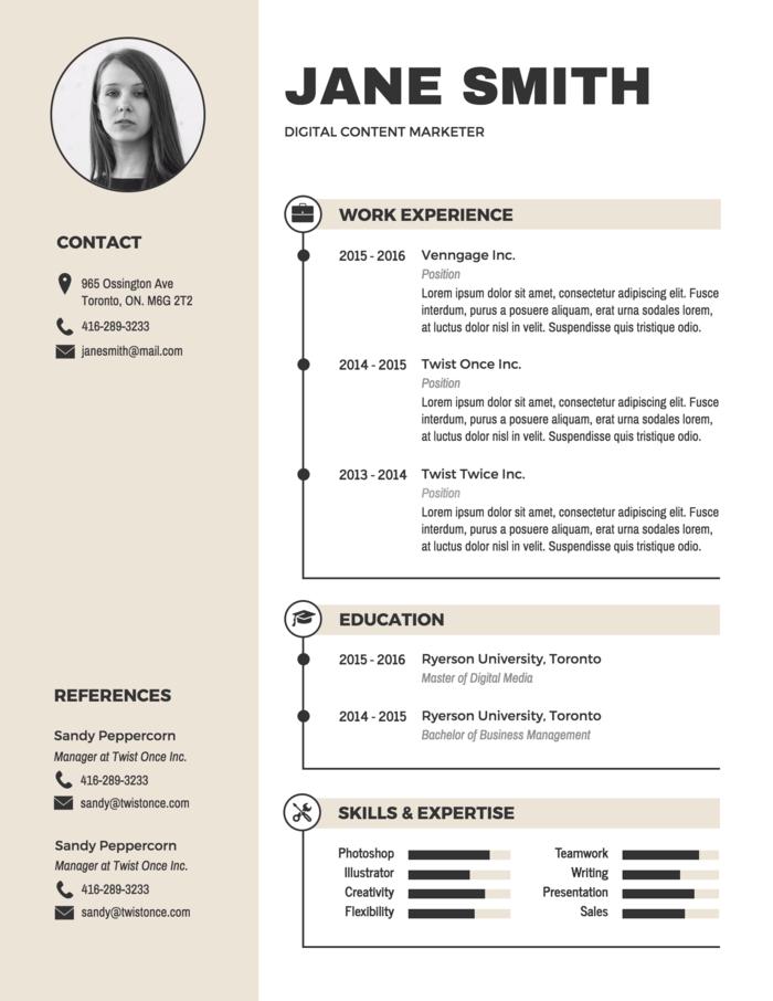 resume maker toronto