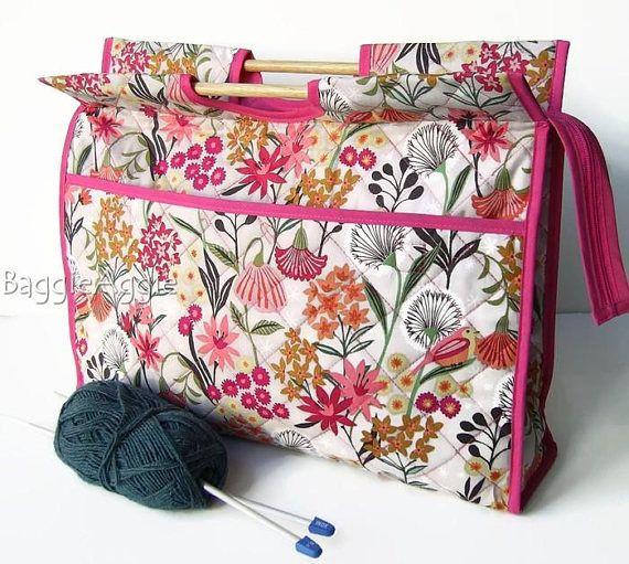 Fl Dandelion Garden Knitting Bag