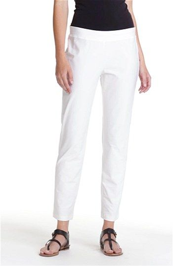 Eileen Fisher Slim Ankle Pants (Regular & Petite) at Nordstrom.com. A wide elastic waistband tops crepe pants cut with a slim leg and ankle-length inseam.