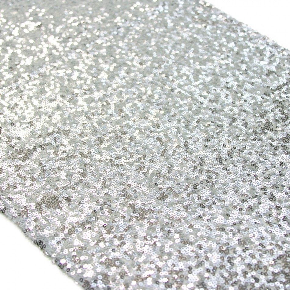 Sequin Table Runner - Silver | wedding decorating ideas | Pinterest ...