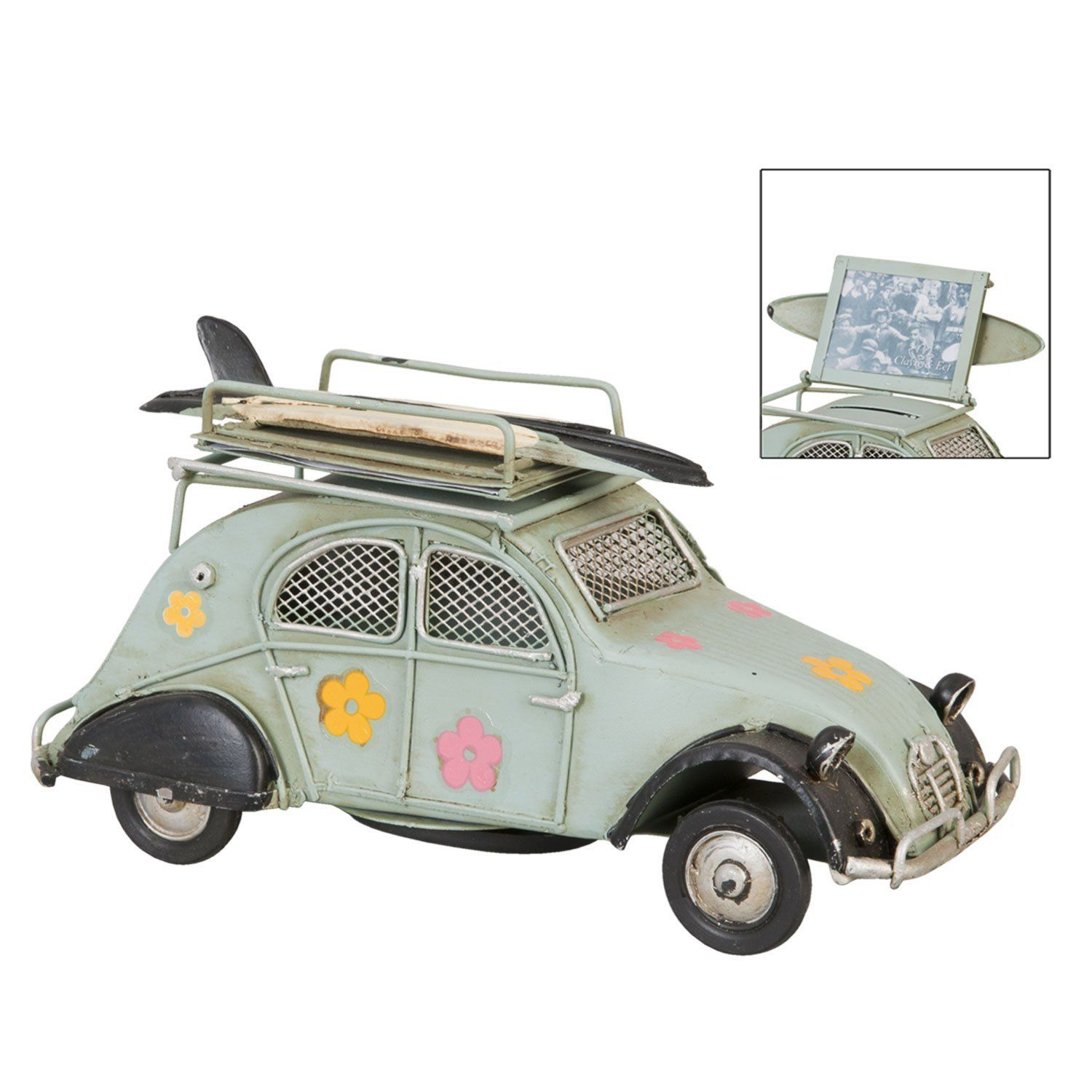 ente citroen 2cv 1956 hippie blumen 70er blechauto retro vintage modellauto nostalgie oldtimer. Black Bedroom Furniture Sets. Home Design Ideas