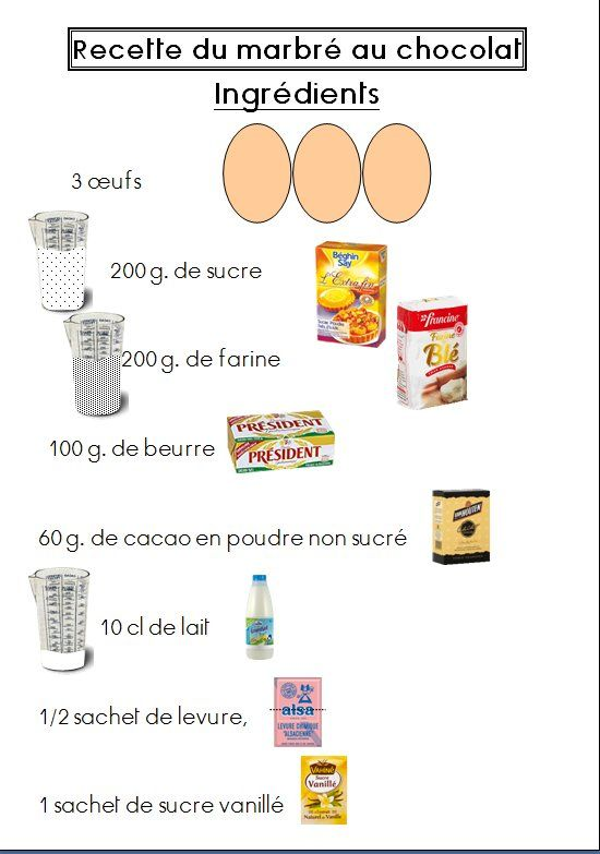 Marbre Au Chocolat Recette Classe Pinterest