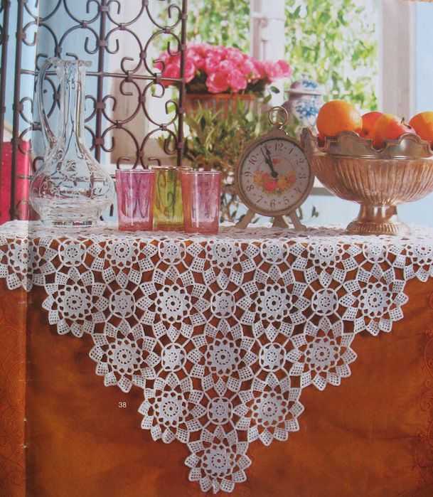 Free Tablecloths Pattern With Schemes Free Crochet Patterns Free