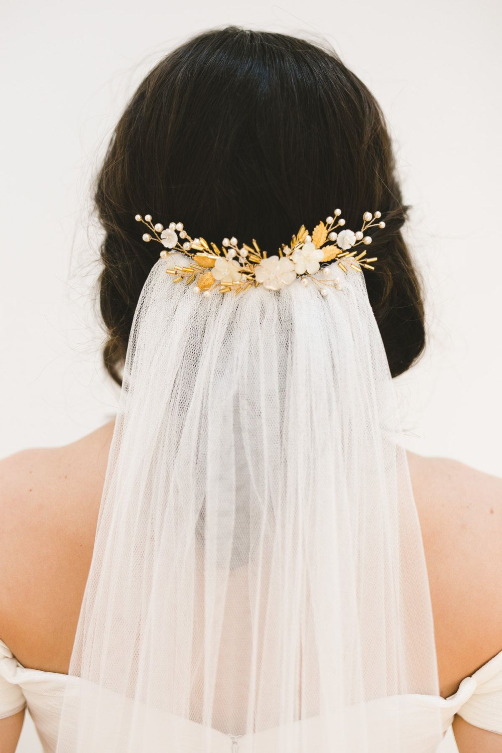 Sweet and delicate, the Monna pearl wedding hair comb makes a ...