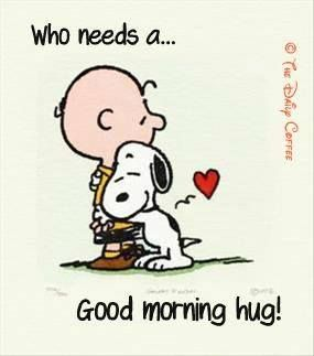 Charmant Morning Hug Quotes Cute Quote Morning Charlie Brown Snoopy Good Morning  Sending Hugs Out To All Who Need Them Today