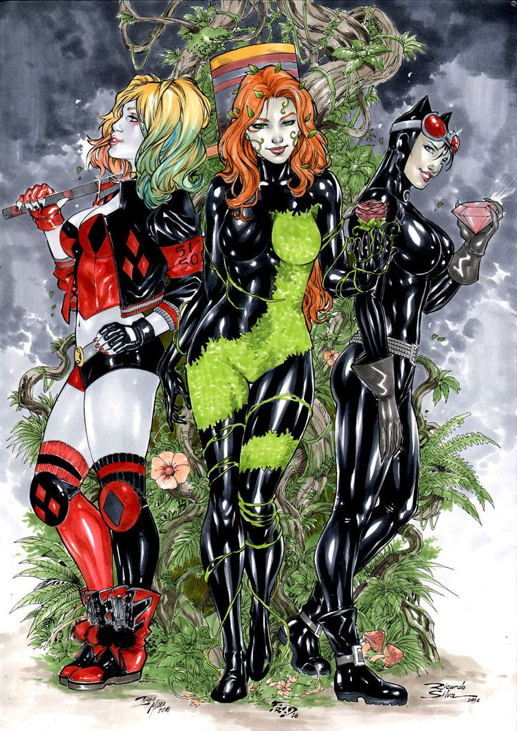 Ivy harley quinn catwoman poison