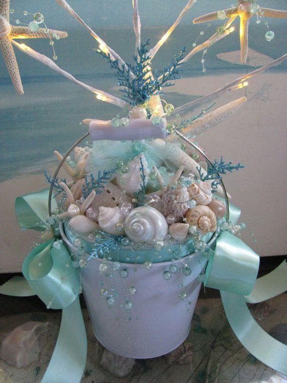 White Seashell Starfish Wedding Centerpiece Decoration Lights Up Led