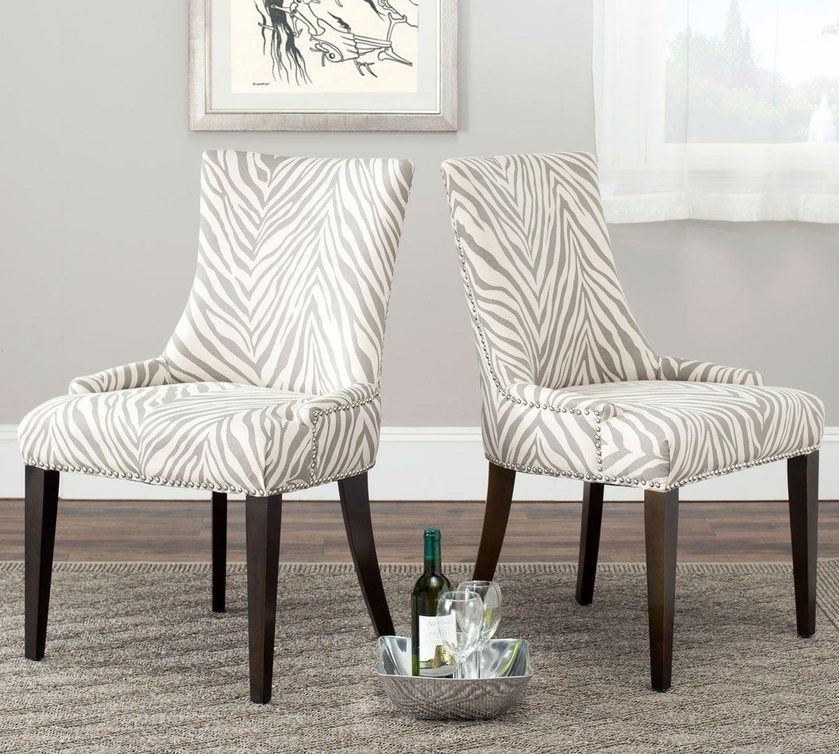 Animal Print Dining Chairs