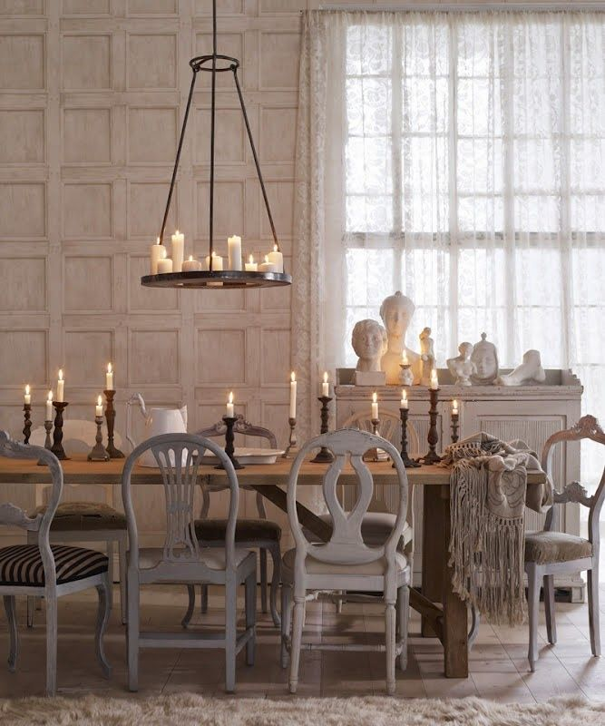 Eye For Design Decorating With Mismatched Dining Room Chairs Love This Grey Not So Much On Everything Else