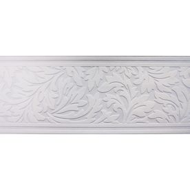 Shop Allen Roth 7 In White Unpasted Wallpaper Border At Lowes Com Wallpaper Border Lowes Home Improvements Guest Bathrooms