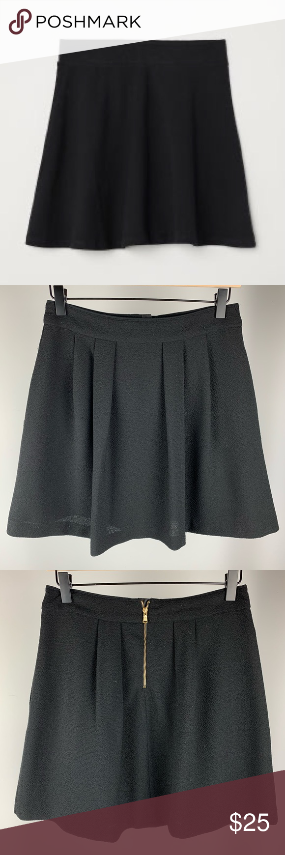 Zara Basic S Black Pleated Circle Skirt Size S In 2020 With Images Zara Basic Clothes Design Circle Skirt