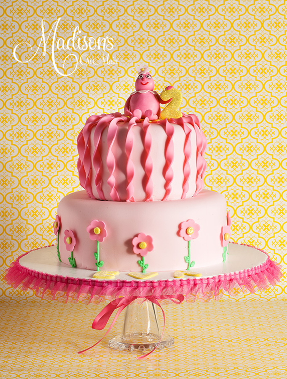 Pretty Pink Girls 2nd Birthday Cake Birthday Cakes Pinterest