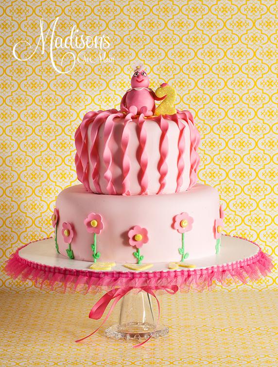 Beautiful Cake Pictures Pretty Pink Girls 2nd Birthday Cake