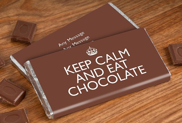 Keep Calm And Eat Chocolate Personalized Chocolate Bars Personalized Chocolate Chocolate