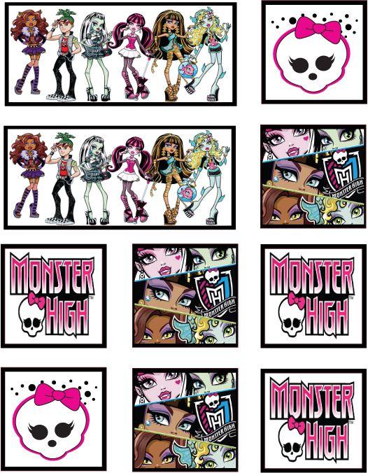Mh Stickers Stickers Do Druku Printables Pinterest Monster