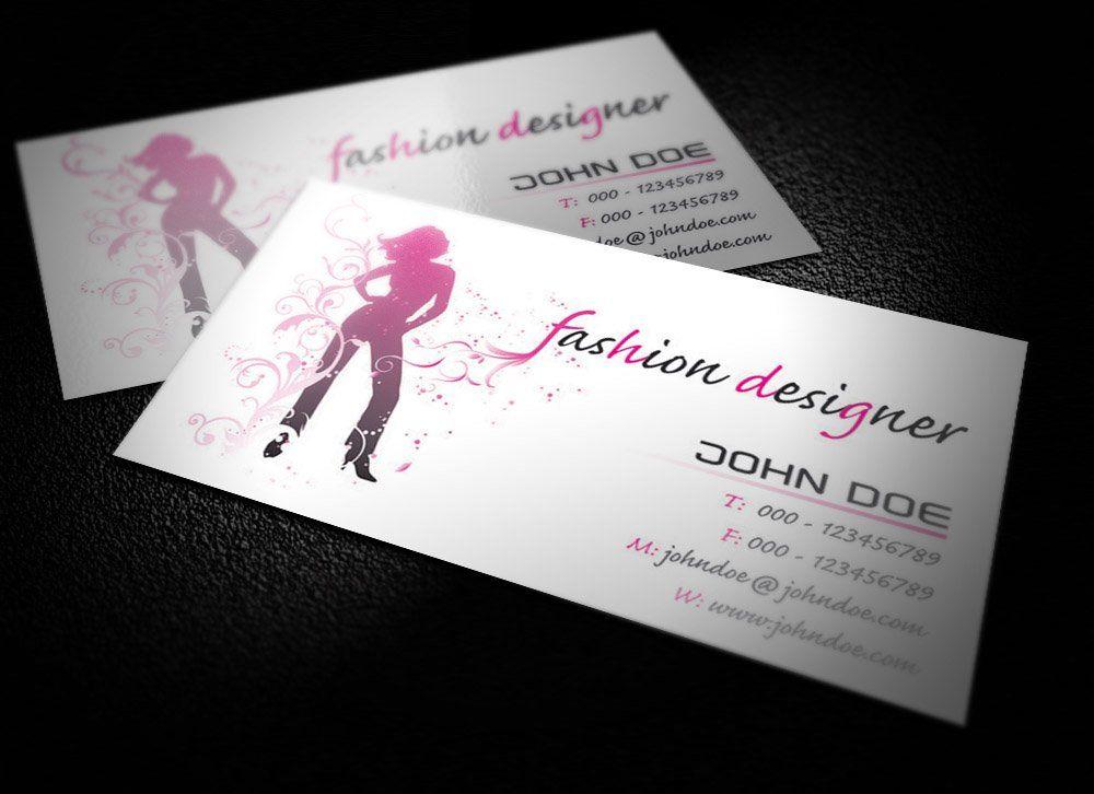 Fashion Designer Business Card Visiting Card Design Psd Business Card Design Visiting Card Design