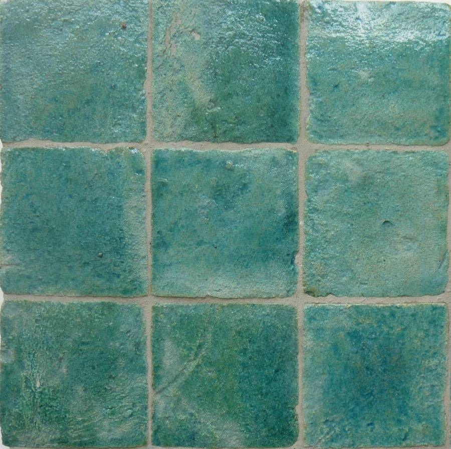 ossido glazed terracotta tile but aeria - teal / blue / green