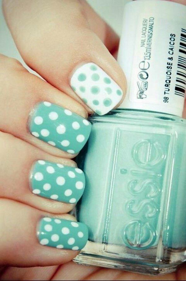 Uñas Color Menta - Mint Nail Art | Menta | Pinterest | Color menta ...