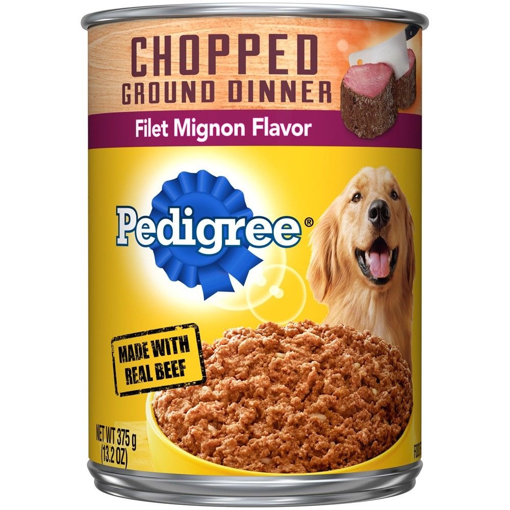 Pedigree Filet Mignon Flavor Wet Dog Food Beef 13 2oz