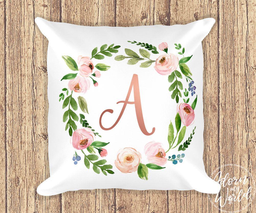 Initial Pillow Letter Pillow Pillow