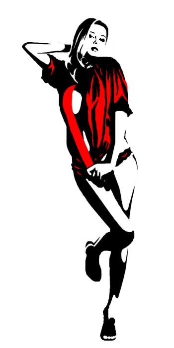 Pin On Black White Red Illustration