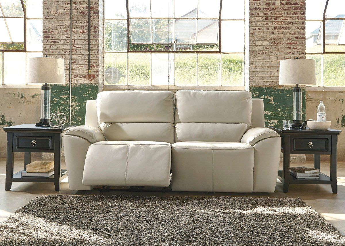 Cream Leather Recliner Sofa In 2020 Leather Reclining Sofa Sofa Reclining Sofa