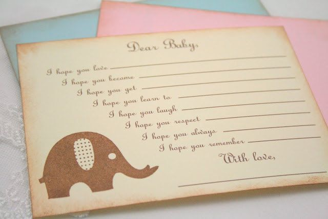 Wishes For Baby Showers ~ Baby shower wishes for baby game activity cards fill in the blanks