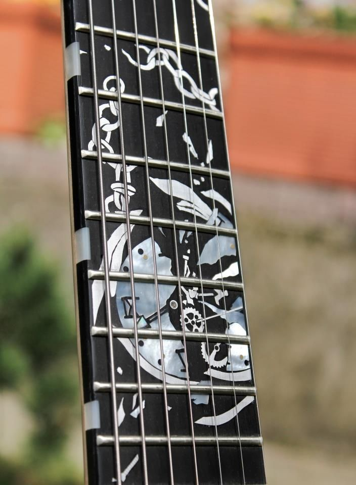 Awesome watch inlay by Daemoness Guitars