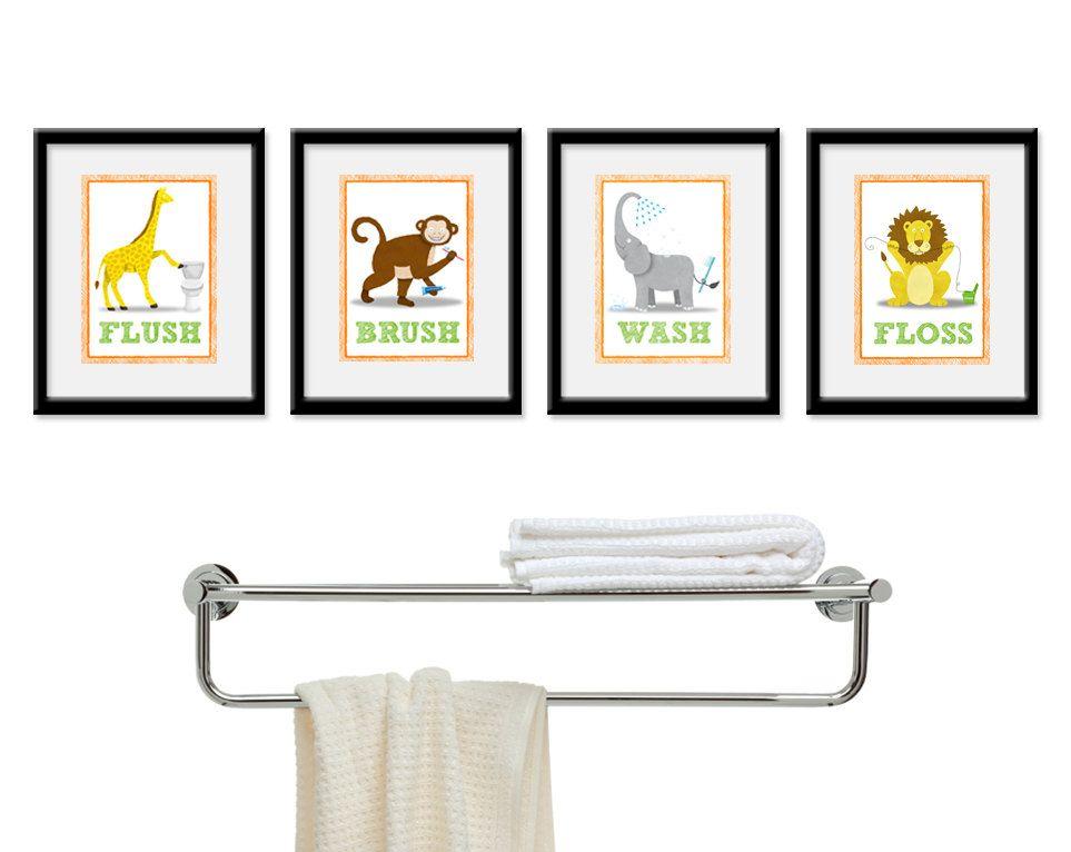 Jungle Bathroom Decor Pinterdor Pinterest Kids Bathroom Art