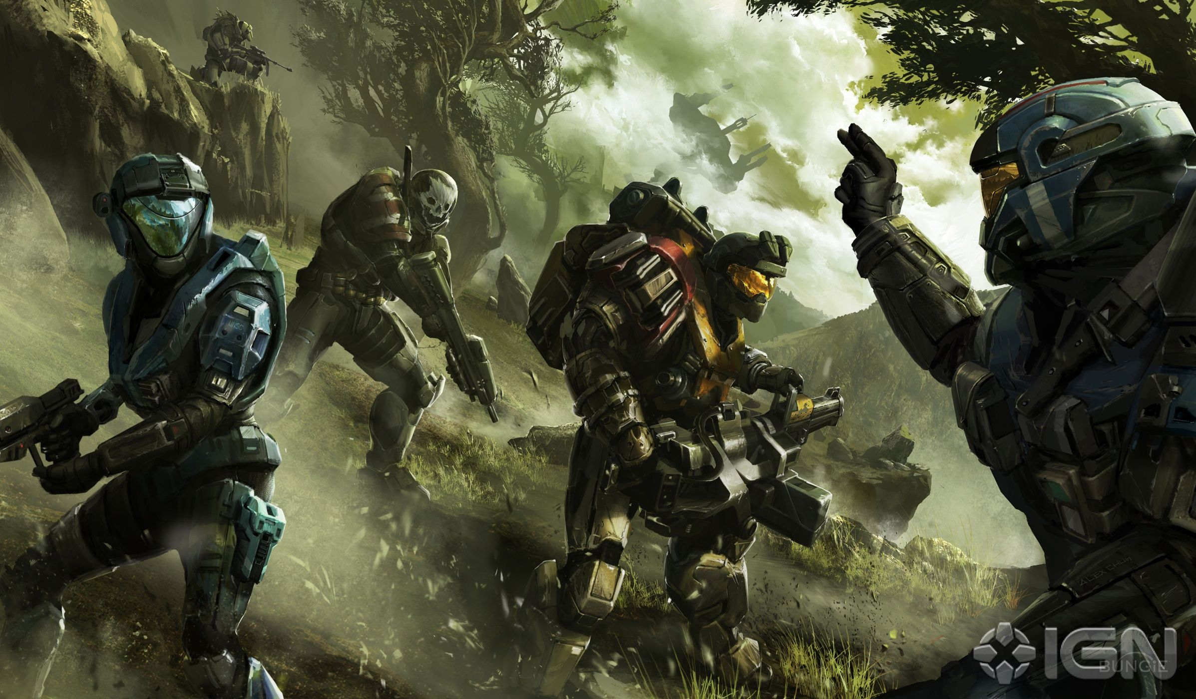 Halo Reach Noble Team Halo Reach Halo Video Game Halo