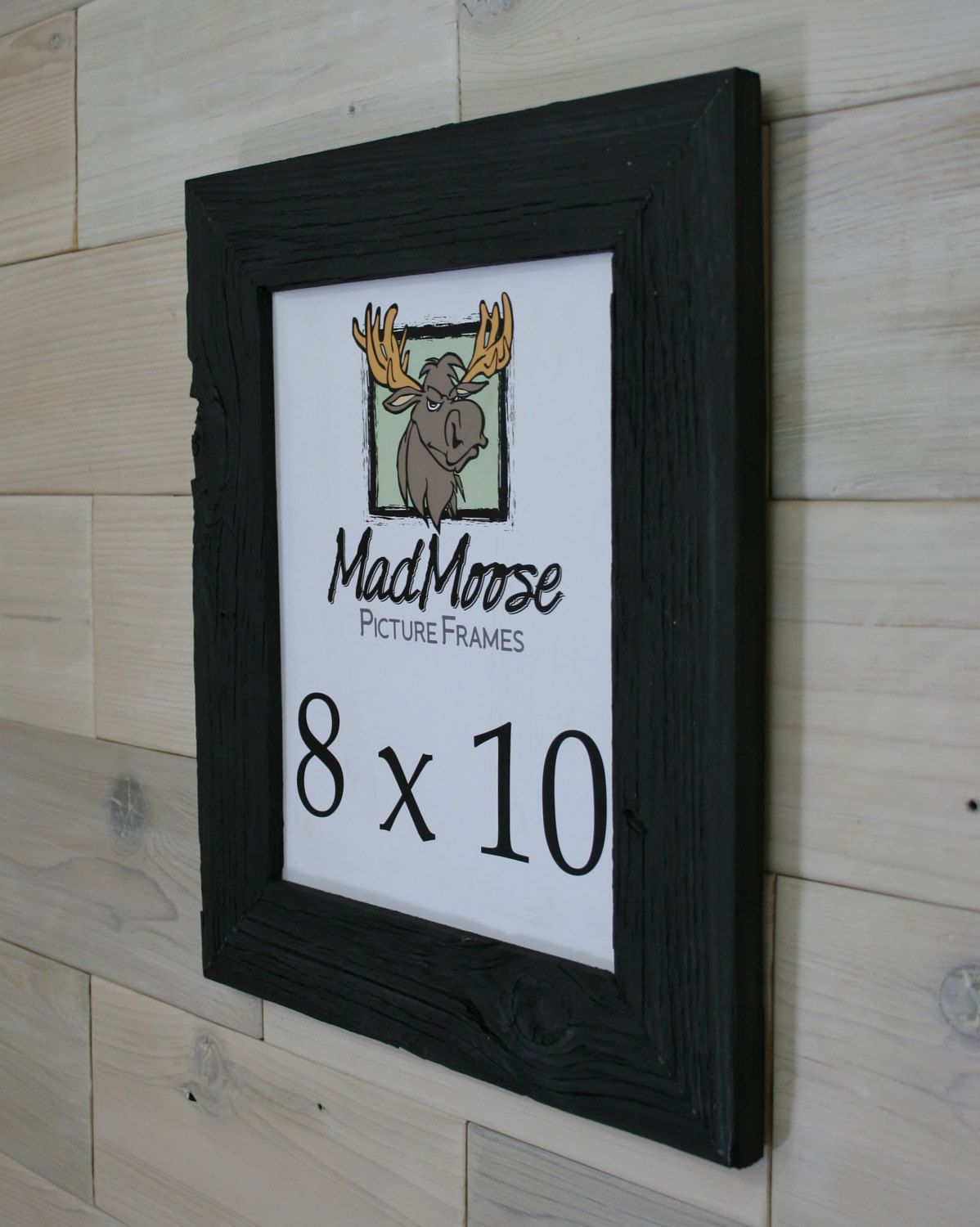 Black Painted Barn Wood 8x10 Picture Frame [style: Thin x 3\