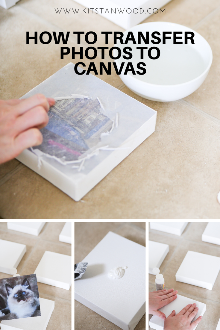 how to transfer photographs to canvas for a vision board beauty