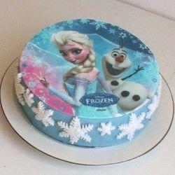 La reine des neiges gateau anniversaire