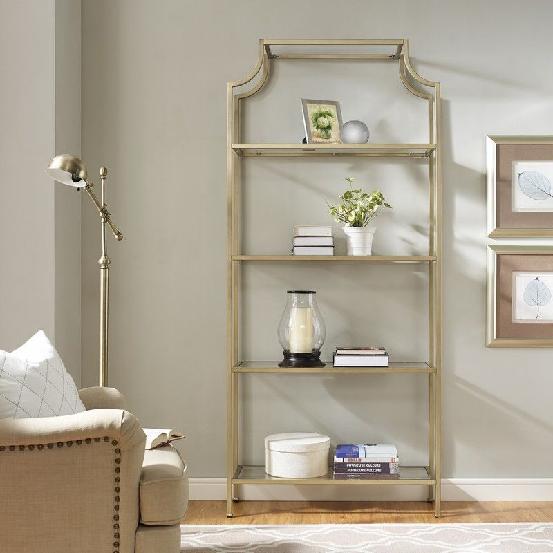 Crosley Aimee Gl Etagere Cf6101 Glthe Standard Bookshelf Gets A Serious Refresh With Our