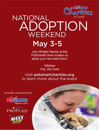 Petsmart Ca National Adoption Weekend Dog Flyer May2013 Small Jpg 350 457 Adoption Petsmart Weekend