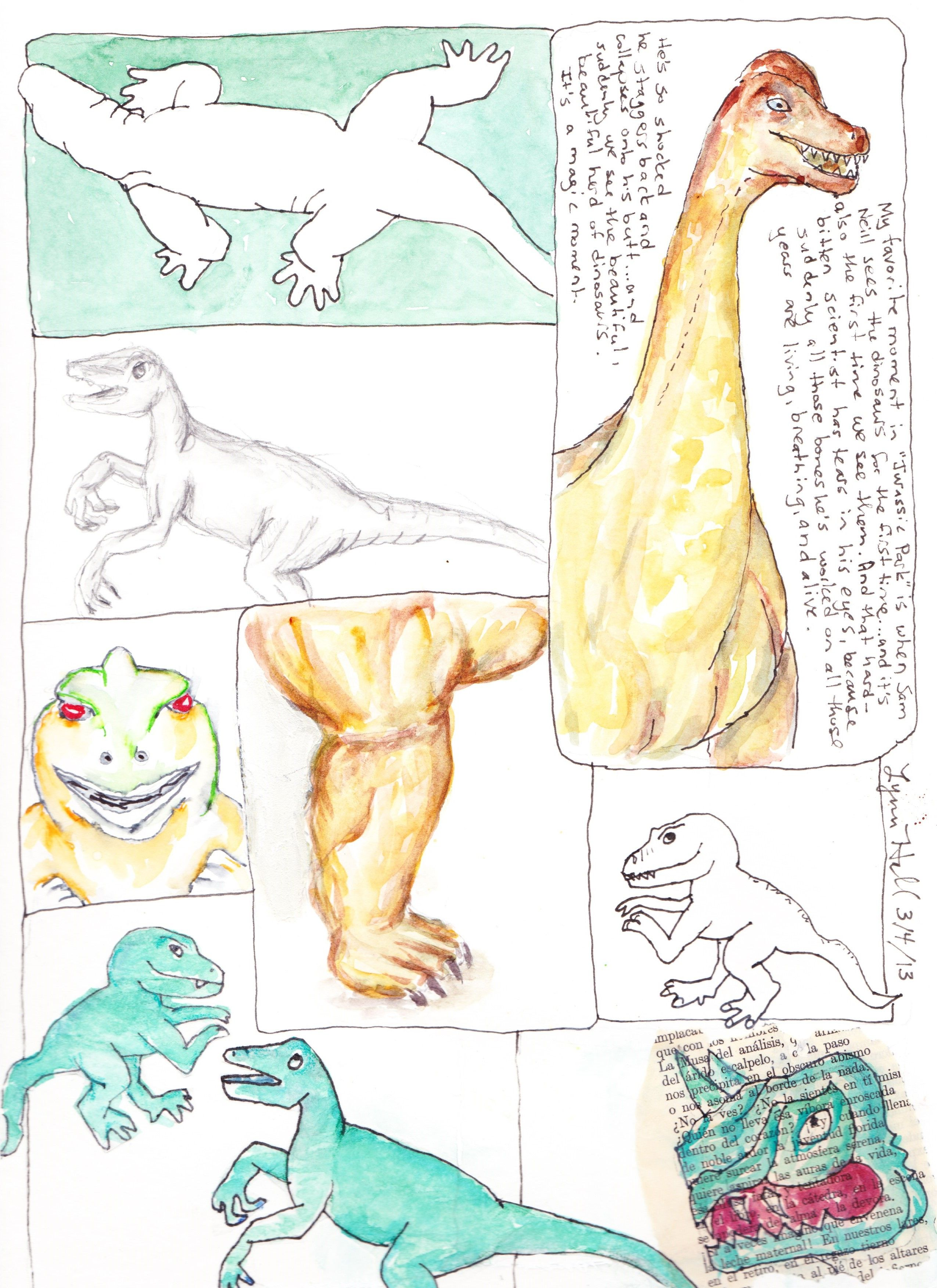 "Goofy Dinos: another page in the ""ten ways"" class."