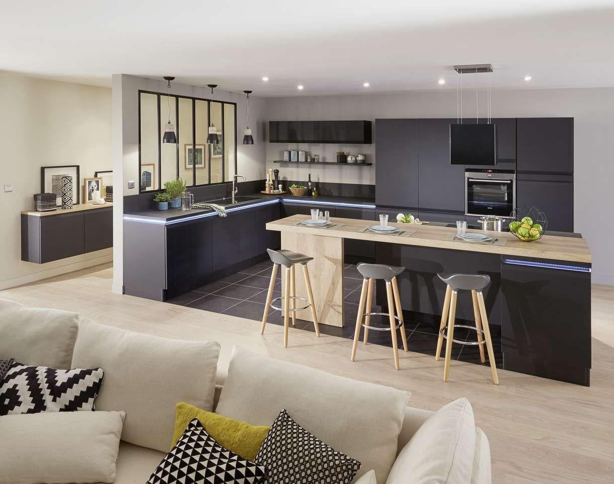ilot de cuisine et espace de repas 2 en 1 comptoir bar lapeyre et comptoir. Black Bedroom Furniture Sets. Home Design Ideas